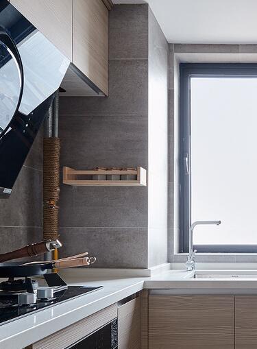 厨房包管居然用麻绳!100平北欧三居小心思设计