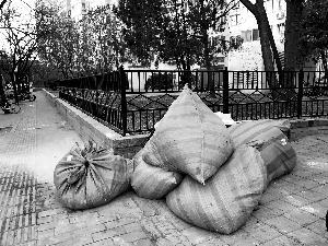 前脚清走后脚就堆起 垃圾占道居民出行不便