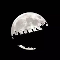 等待2015京城最大最圆的超级月亮