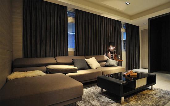 深色系的精致优雅 100平舒适机能家