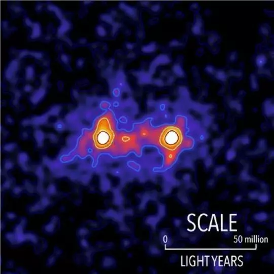 """暗物质在星系间""""架起桥梁"""":长几千万光年"""