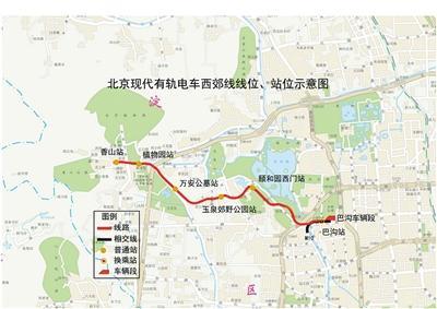 北京地铁西郊线等3条轨道线年底开通