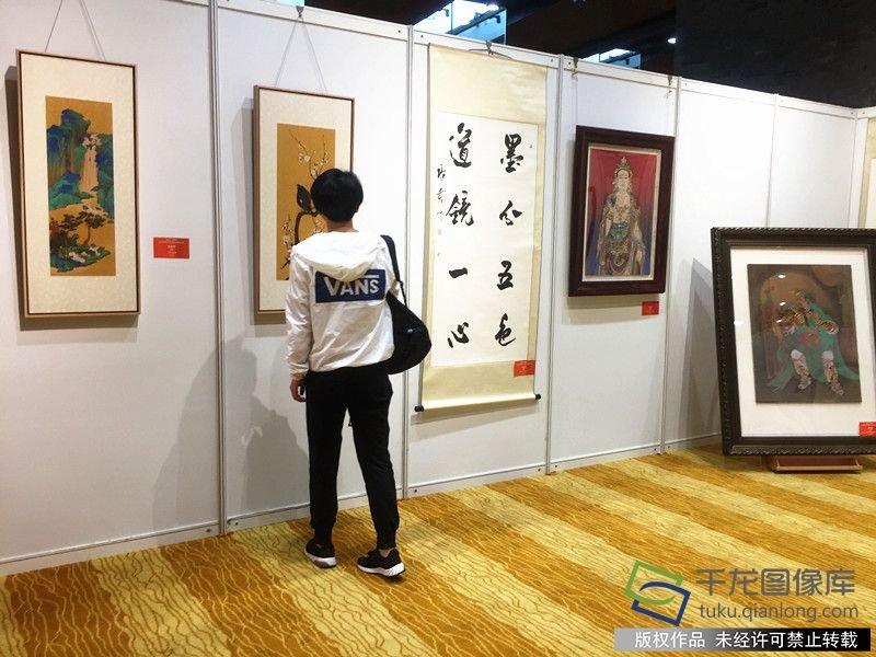 海峡两岸近百幅书画精品在京展出