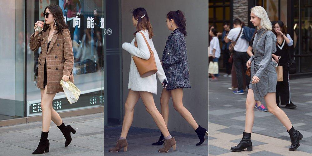 【燕女郎・街拍】秋风中秀美腿!看时髦美女如何在秋季任性穿衣
