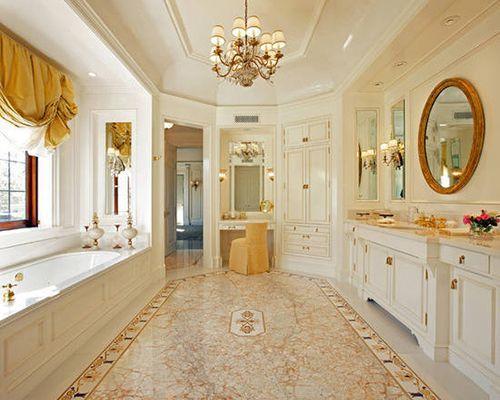 延伸生活典雅奢华,这种欧式大户型卫浴