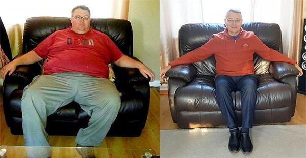 最励志! 英男子靠健康饮食成功减去190斤