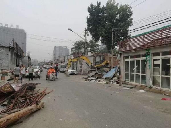 朝阳整治陶瓷一条街 拆除违建3000平米