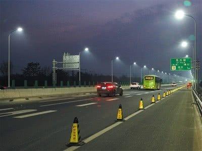 559盏新路灯点亮通燕高速北京段