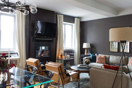 个性鲜明的公寓设计 深色彰显男性魅力~