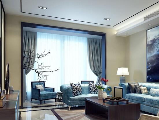 中式客厅窗帘怎么选 中式客厅窗帘选择方法图片
