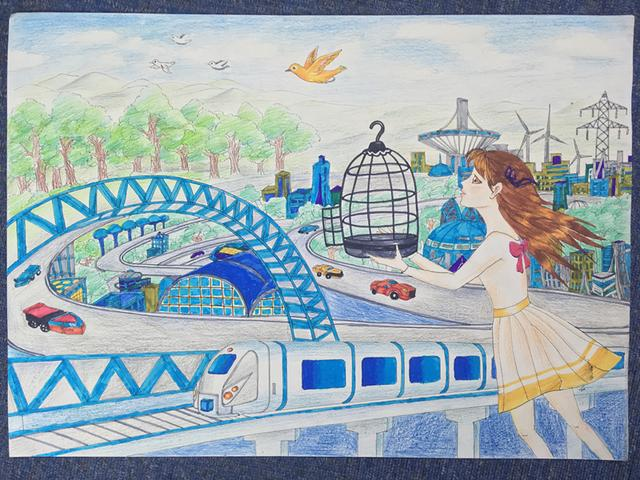 面向全国青少年科幻,美术爱好者征集科幻绘画作品.图片