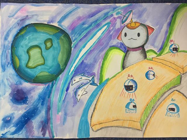 """""""科幻空间美术之星""""青少年科幻画征集大赛优秀作品展示(一)"""
