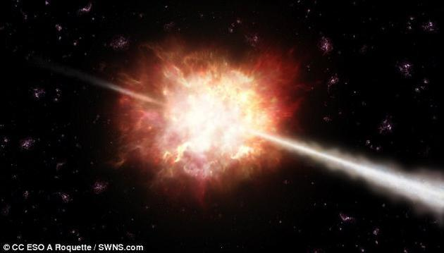 宇宙最剧烈爆炸:科学家成功捕捉伽马射线暴详细过程