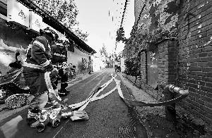 东城试点消防管线入地 破解小胡同消防难