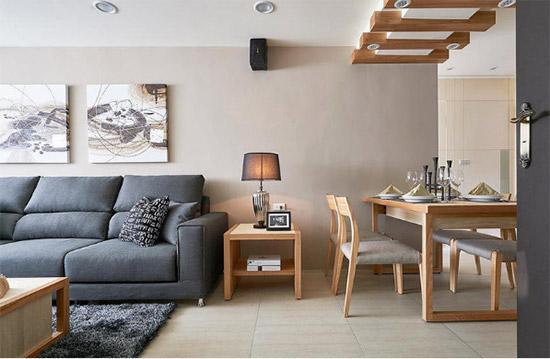 86m2简约三居室翻新 五口之家住的称心