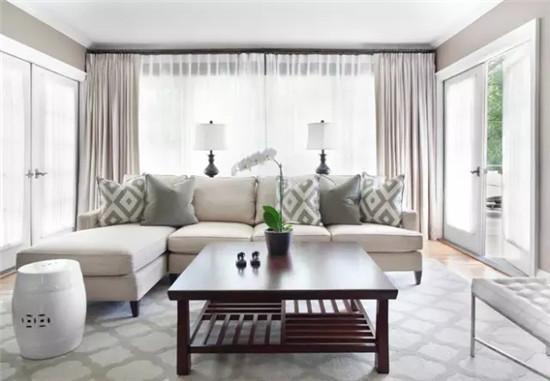 沙发与窗帘色系的绝妙搭配