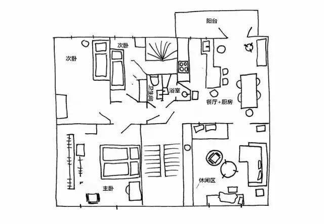36平米的家 宽敞、通透还处处惊喜!