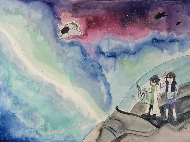 奥秘》王晗玥(初一)-科幻空间美术之星 青少年科幻画征集大赛优图片