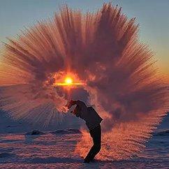 北京也能玩热水成冰!都出去泼吧!