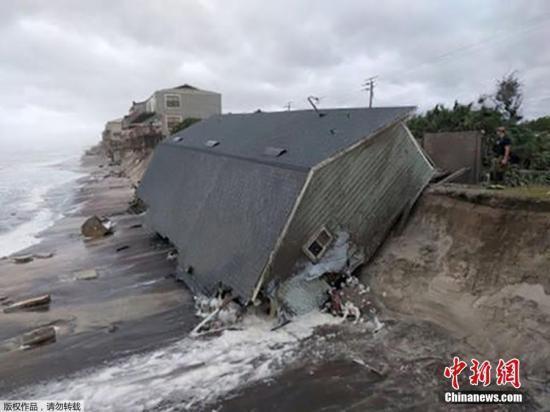 """""""艾玛""""过境加勒比诸岛灾情严重"""