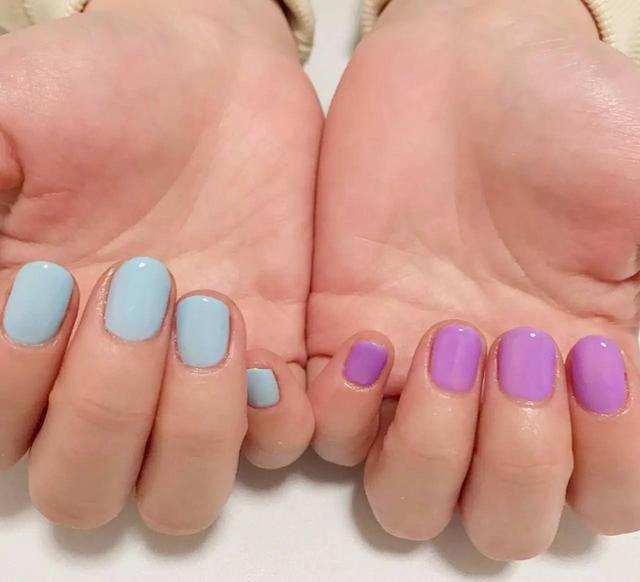 指甲花纹图案简单漂亮
