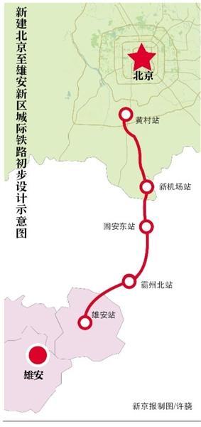 北京至雄安城际铁路3月开工 建设总工期为2年