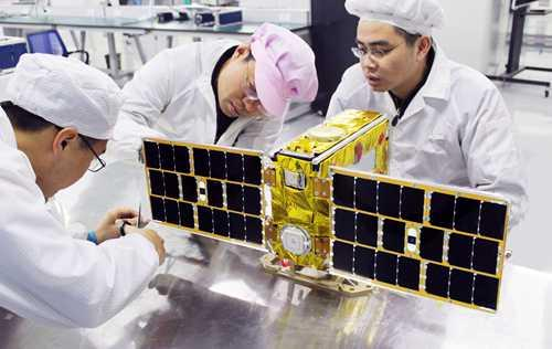 """全球首颗""""共享卫星""""从北京亦庄发射"""