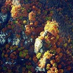 航拍京郊壮丽秋景 万山红遍层林尽染