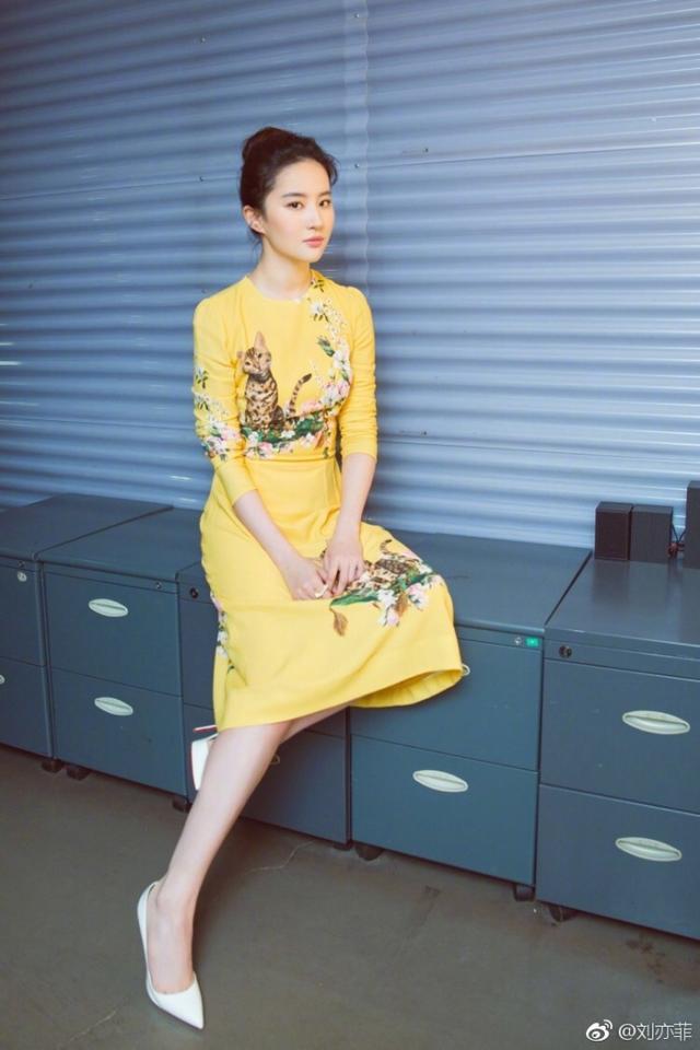 刘亦菲杨颖等娱乐圈女星 穿黄色裙装谁最美
