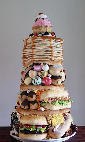 """别出心裁""""美食""""蛋糕来一个"""