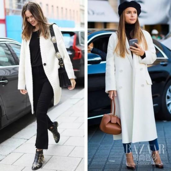 她们冬天穿白色还辣么瘦,我们穿上就…