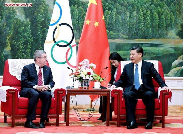 President Xi meets IOC's President Bach: China to make sure Beijing 2022 Winter Olympic Games great success