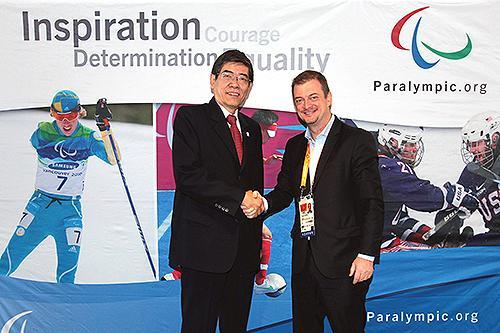 鲁勇会见国际残奥委会主席帕森斯
