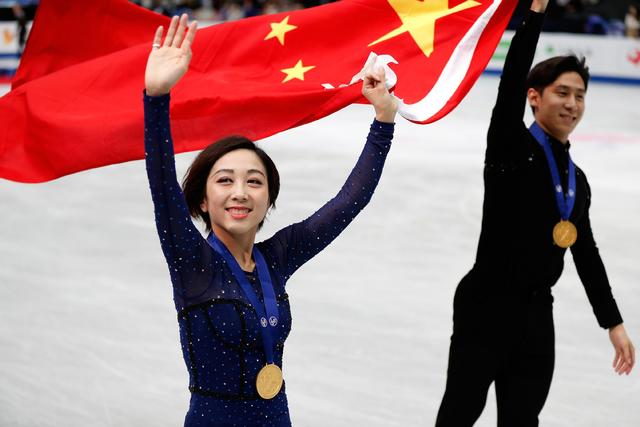 Flawless Chinese figure skating pair wins Worlds title