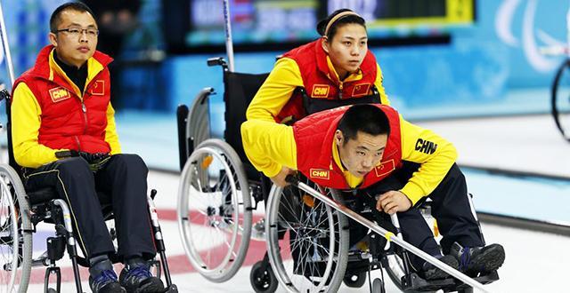 冬残奥会项目-轮椅冰壶
