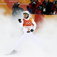 Jia Zongyang Win Silver in the Freestyle Skiing Men's Aerials