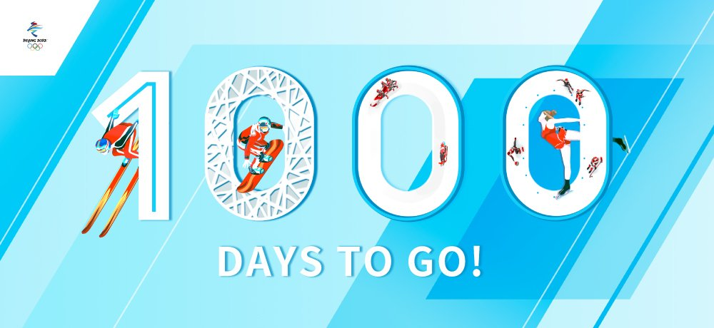 Let's Celebrate the 1,000-Day Countdown to Beijing 2022