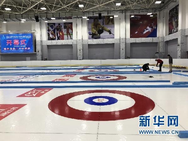 """青海打造国际化""""冰面""""迎接国际冰壶精英赛"""