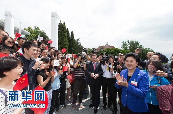 刘延东会见支持北京申冬奥会中国留学生代表