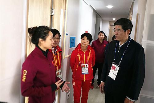 鲁勇看望平昌冬残奥中国代表团