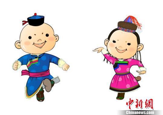 第十四届全国冬运会发布吉祥物 蒙古彩娃迎宾客