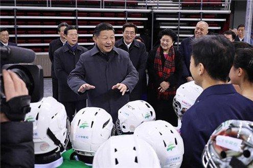 习近平在北京考察冬奥会筹办工作