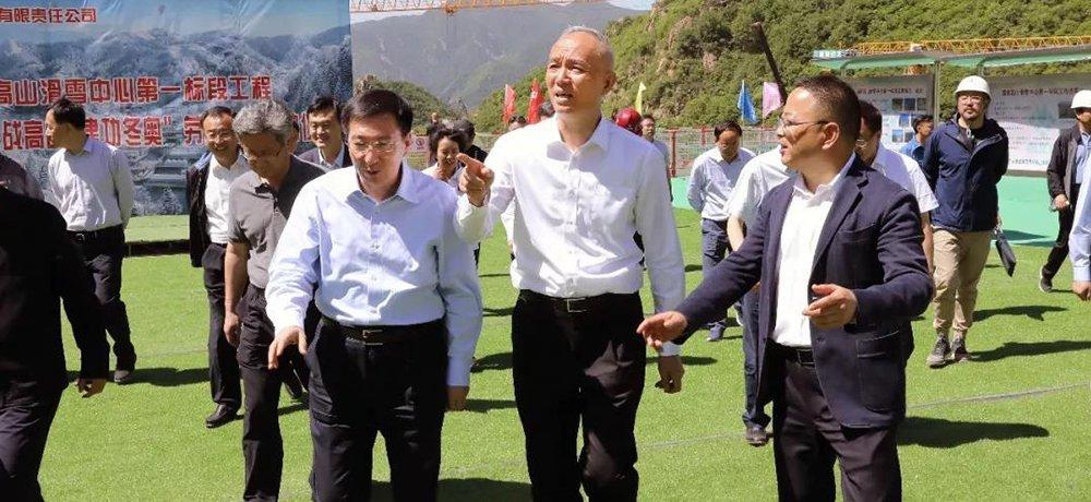 蔡奇陳吉寧再次來到小海坨調研冬奧場館建設