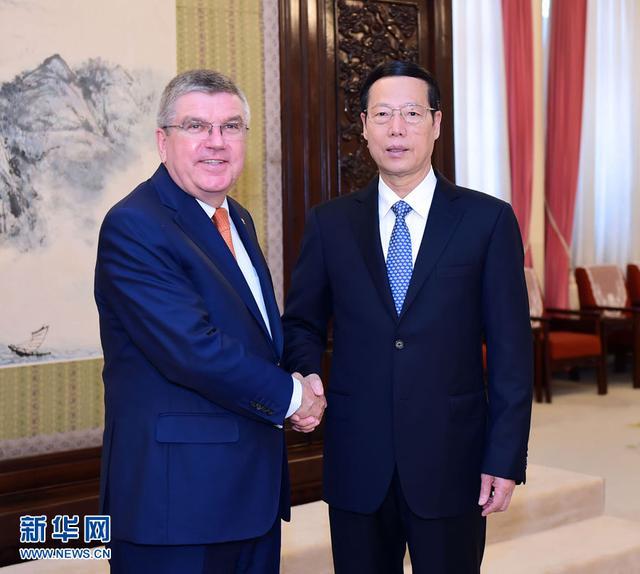 Zhang Gaoli rencontre le président du CIO