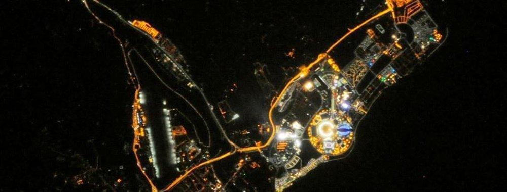 国际空间站宇航员拍到2014冬奥会圣火