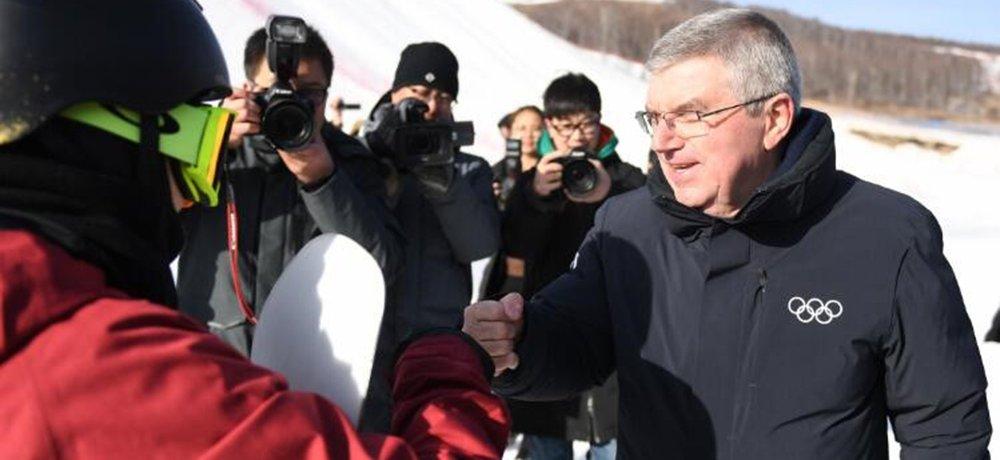 巴赫考察冬奥场馆 点赞中国效率
