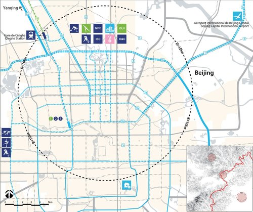 Plan de la zone de Beijing