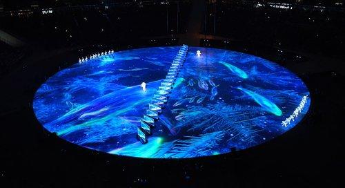 Présentation de la performance artistique des 8 minutes de Beijing