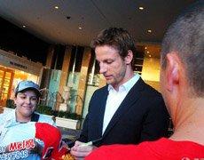 Mel枫邂逅F1世界冠军简森-巴顿