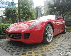 成都感受意大利红色激情法拉利599 GTB